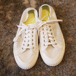 Women's White Net Tretorn Sneakers